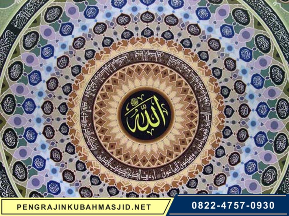 Pengrajin Kubah Masjid Motif Plafon 3